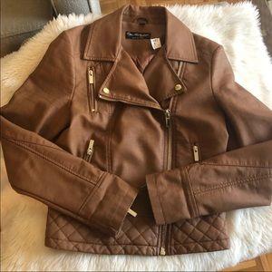 NWT Faux Leather Moto Jacket